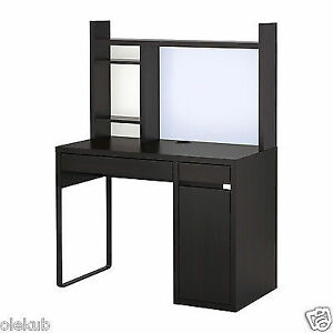 Buy Ikea Micke Desk Table Computer Work Station Storage Black Brown
