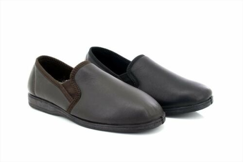 Sleepers HADLEY MS414 Full Real Leather Indoor Slippers