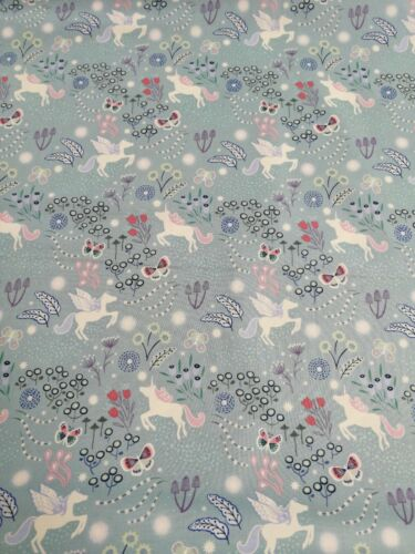 Cotton Fabric Fat Quarter quilting Lewis and Irene Glow Unicorns Fairy Nights