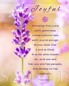 Details about Bible Scripture Verse Picture Joyful (8X10) New Fine Art  Print Photo Jesus God
