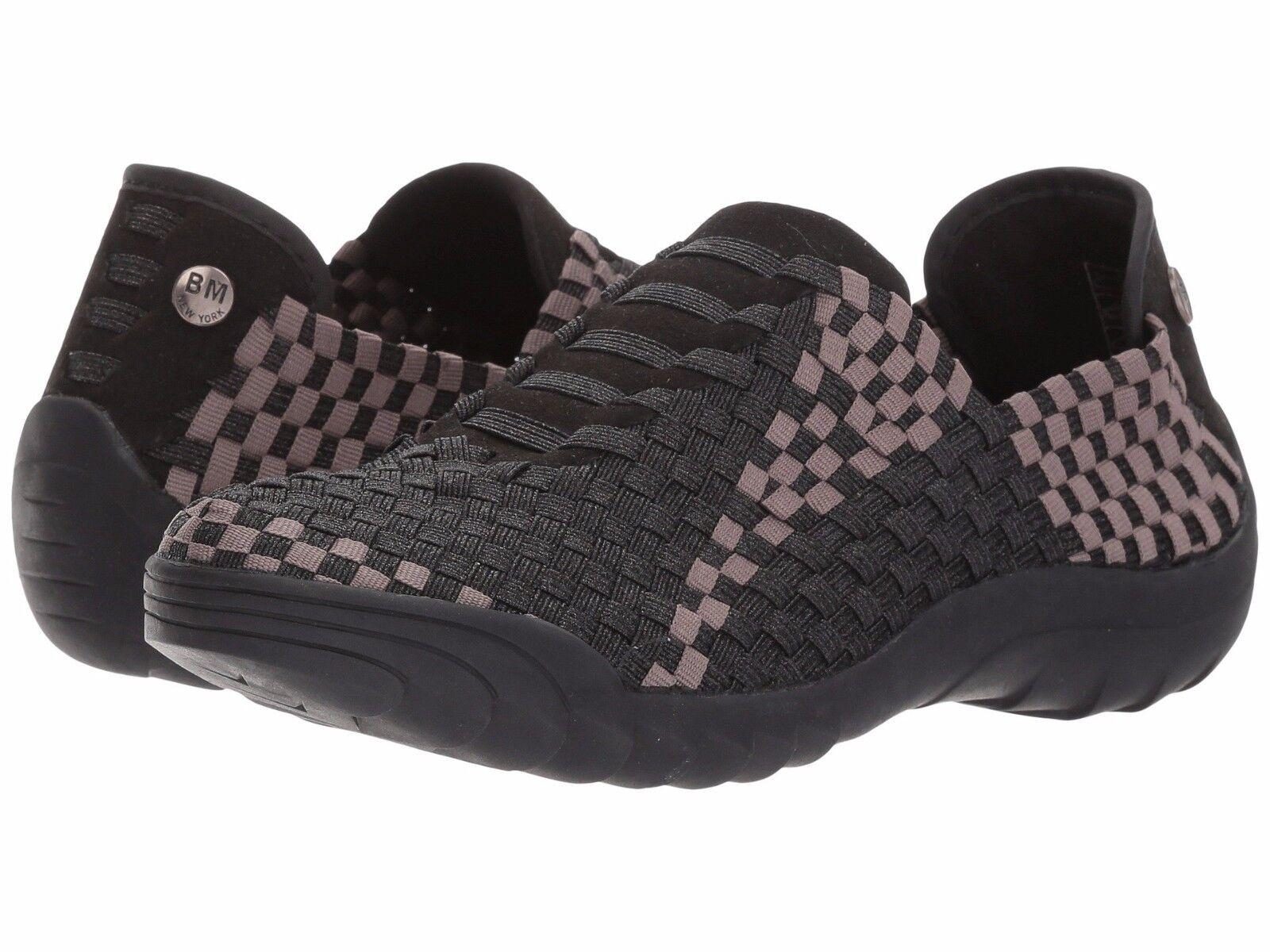 Bernie Mev Mev Mev Women's Rigged Vivaldi Woven Slip On Sneakers Black Smoke Sizes 36-39 f3b3df