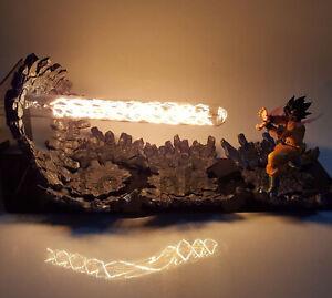 RARE-Dragon-Ball-Z-Son-GOKU-Power-Up-Led-Light-Lamp-Action-Figure-Whole-Set