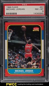 1986 Fleer Basketball Michael Jordan ROOKIE RC #57 PSA 8 NM-MT