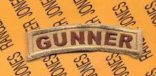 US Army GUNNER OIF OEF desert DCU tab arc patch