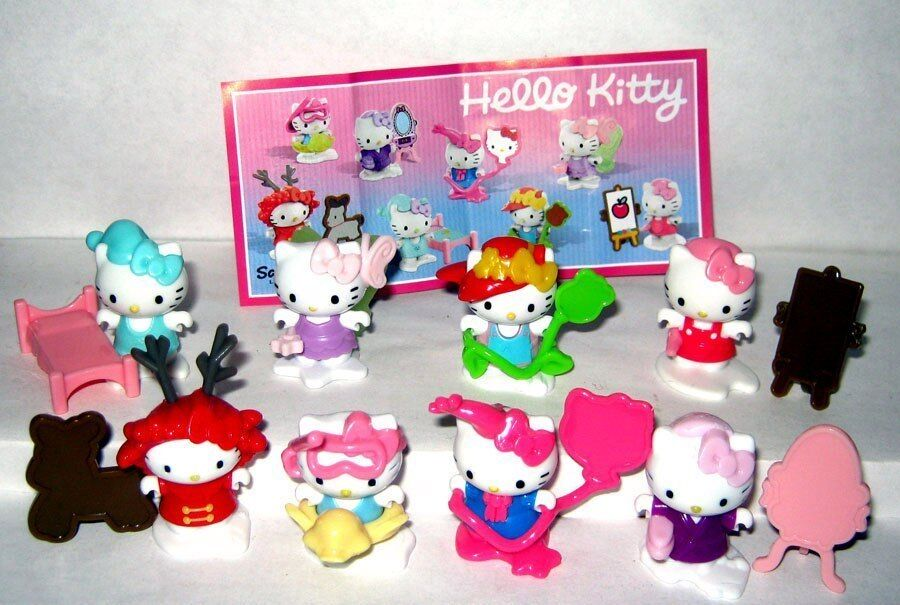 HELLO KITTY KINDER SURPRISE collection NEW Russian compleat set 8 BPZ Russland