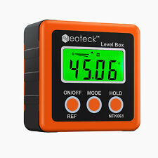 Neoteck 490 Digital Level Box Lcd Protractor Angle Finder Inclinometer Magnet