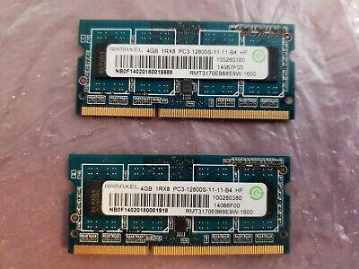 1Rx8 PC3-12800 DDR3 1600MHz SODIMM LAPTOP MEMORY Elpida 8GB 2X4GB