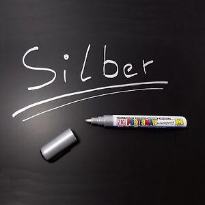ZIG-Posterman-Kreidemarker-Tafelstift-Glasschreiber-2-6-mm-Spitze-silber