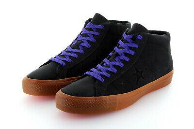 Converse Cons One Star Pro Mid Black Gum Leather Lunarlon Gr. 42,5 43 US 9   eBay