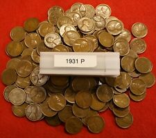 1931 LINCOLN WHEAT CENT SOLID DATE ROLL 50 COIN GOOD PLUS