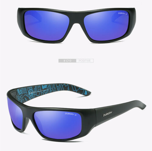 DUBERY Mens Sport Polarized Sunglasses Outdoor Driving Helm Square Eyewear New