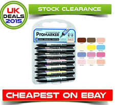 LETRASET PROMARKER SET (12 COLOURS + FREE BLENDER) - SET NO.2 - CREATIVE PLAY