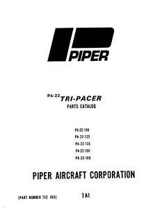 piper pa 22 108 125 135 150 160 tri pacer parts catalog manual ebay rh ebay com PA 22 Tri-Pacer 1961 Piper Colt PA 22
