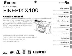 fujifilm finepix x100 digital camera owner s manual user guide rh ebay com Operators Manual Corvette Owners Manual