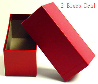 Single Row 10 pack 9x2x2 Red Storage Box for 2x2 Coin Holders with 1000 Flips