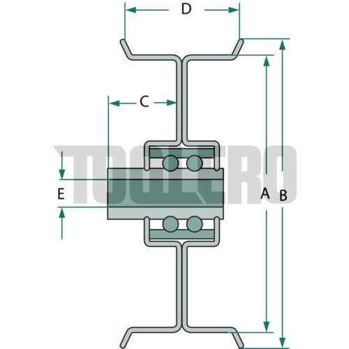 Polea de inversión para acero-de sujeción-y umlenkrollen con flanco para plana correa Divers