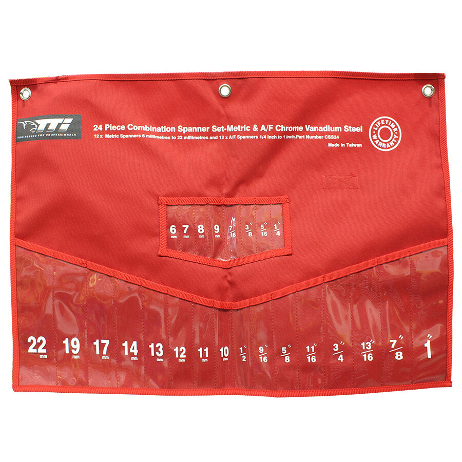 TTI SPANNER SET POUCH Robust & Durable ROT, Suits CSS24 Model, Metric & AF