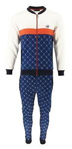 Mens Slim Fit Tracksuit Set Zip Up Top Bottoms Jogging Designer Outfits 2pcs Set