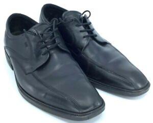 Ecco-Oxford-Men-039-s-EUR-45-US-11-11-5-Black-Leather-Lace-Up-Bicycle-Toe-Dress-Shoe