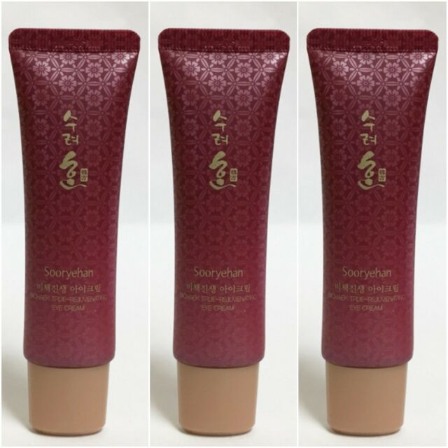 25ml x 3 Sooryehan True Rejuvenating EYE Cream Wrinkle care Whitening