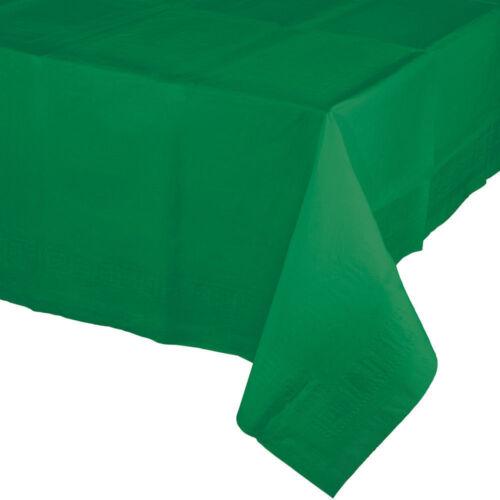 3 Plis Fête//Noël Table Nappe en plastique-doublé couverture 137 x 274 cm diverses couleurs