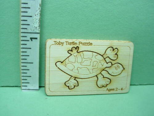 Miniature Wooden Toby Turtle Puzzle  1//12th Scale Dragonfly Int/'l