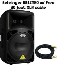 """BEHRINGER B812NEO DSP-CONTROLLED 1260-Watt 12"""" PA SPEAKER W/ FREE 30 XLR CABLE"""
