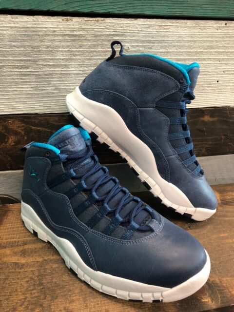 new styles d7dc7 10233 NEW Nike Air Jordan 10 Retro La City Los Angeles Ocean Fog 310805-404 Size 8