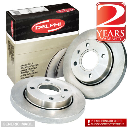 Rear Solid Brake Discs Skoda Octavia 1.9 TDI Estate 2004-09 105HP 255mm