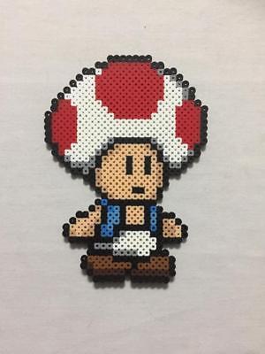 Toad Pixel Art Sprite Super Mario Bros Paper Mario Princess Peach Ebay