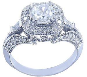 18k-White-Gold-Cushion-Cut-Diamond-Engagement-Ring-Antique-Halo-Pave-Deco-1-50ct