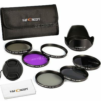 K&F Concept 67mm UV CPL FLD ND2 4 8 Lens Filter Kit Nikon Canon Sigma Tamron SLR