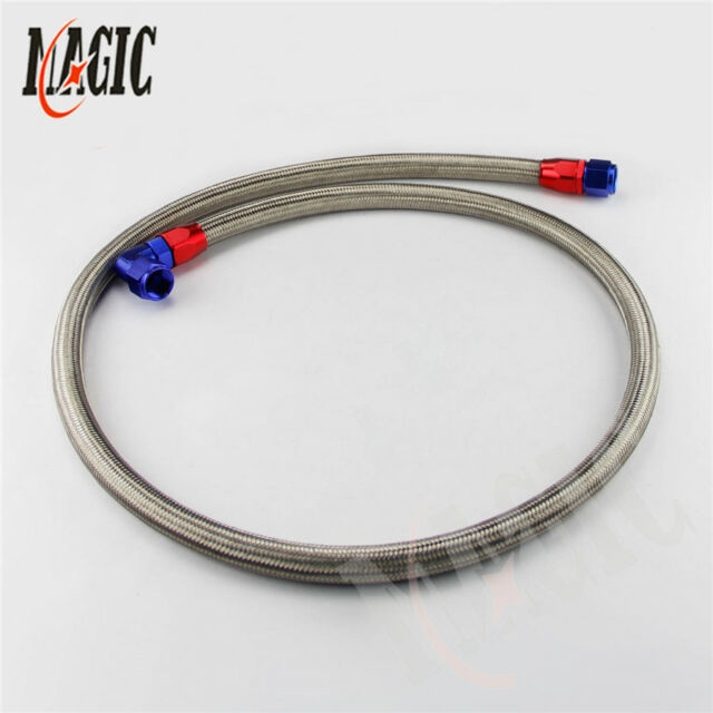 10AN Stainless Steel Braided Oil Fuel Line Hose Fitting End Adapter