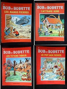 Lot-de-4-BOB-ET-BOBETTE-103-108-130-145-Willy-Vandersteen