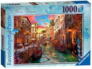 Ravensburger-Jigsaw-Puzzle-VENICE-ROMANCE-1000-Piece-Sunset-Romantic-View