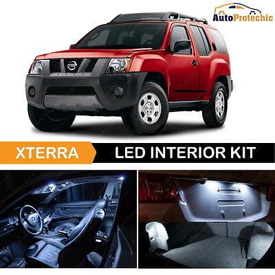 8x White LED Lights Interior Package Kit License Plate for 2005-2015 Xterra