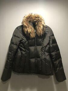 APT-9-Women-039-s-Down-Fill-Black-Winter-Puffer-Jacket-Large-Real-Fur-Trim-Ski-Loft