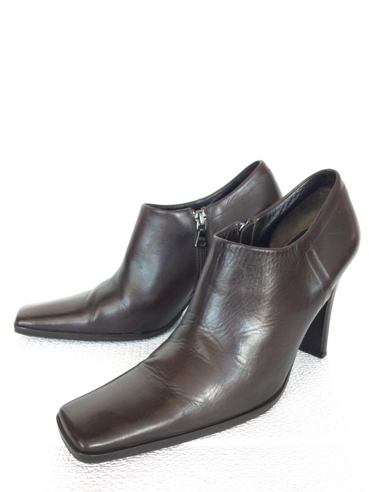 Authentic Prada braun Leather Ankle Stiefel Stiefelies schuhe, Größe 36.5, 6.5