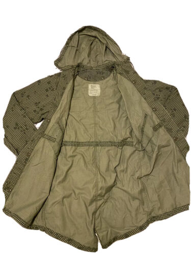 Vintage Military Parka Night Green Camouflage Dese