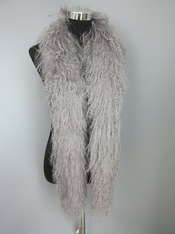 100% real Mogolian lamb fur scarf /fur collar/ fur wrap