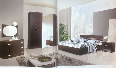 Armoires & Wardrobes Hearty Camera Letto Completa Matrimoniale Legno Camere Letti Armadi Armadio Cabina Fixing Prices According To Quality Of Products