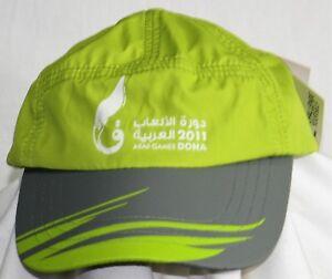 NWT-2011-Arab-Games-DOHA-Challenge-Yourself-Baseball-Cap-Green-Burrda-Sport