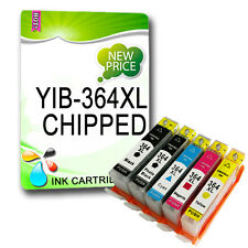 5 NON-OEM Ink 364 XL chipped For YIH-364XL