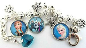 PRINCESS  FROZEN  ELSA AND ANNA CHARM ADJUSTABLE BRACELET GIFT BOX 4 TO 6 YEARS