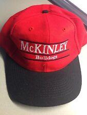Vintage 1990's Ohio Canton McKinley Bulldogs Snapback Hat Cap (Not Massillon)