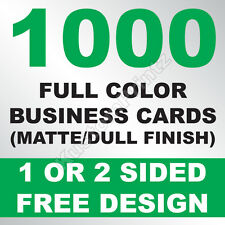1000 CUSTOM FULL COLOR BUSINESS CARDS | 16PT | MATTE DULL FINISH | FREE DESIGN