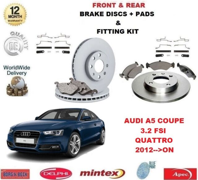 FOR AUDI A5 COUPE QUATTRO 3.2 FSI 2012->ON FRONT + REAR BRAKE DISCS & PADS SET