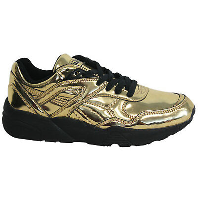 Puma Trinomic R698 x Vashtie Mens Trainers Lace Up Shoes Low Gold 358838 01 U3