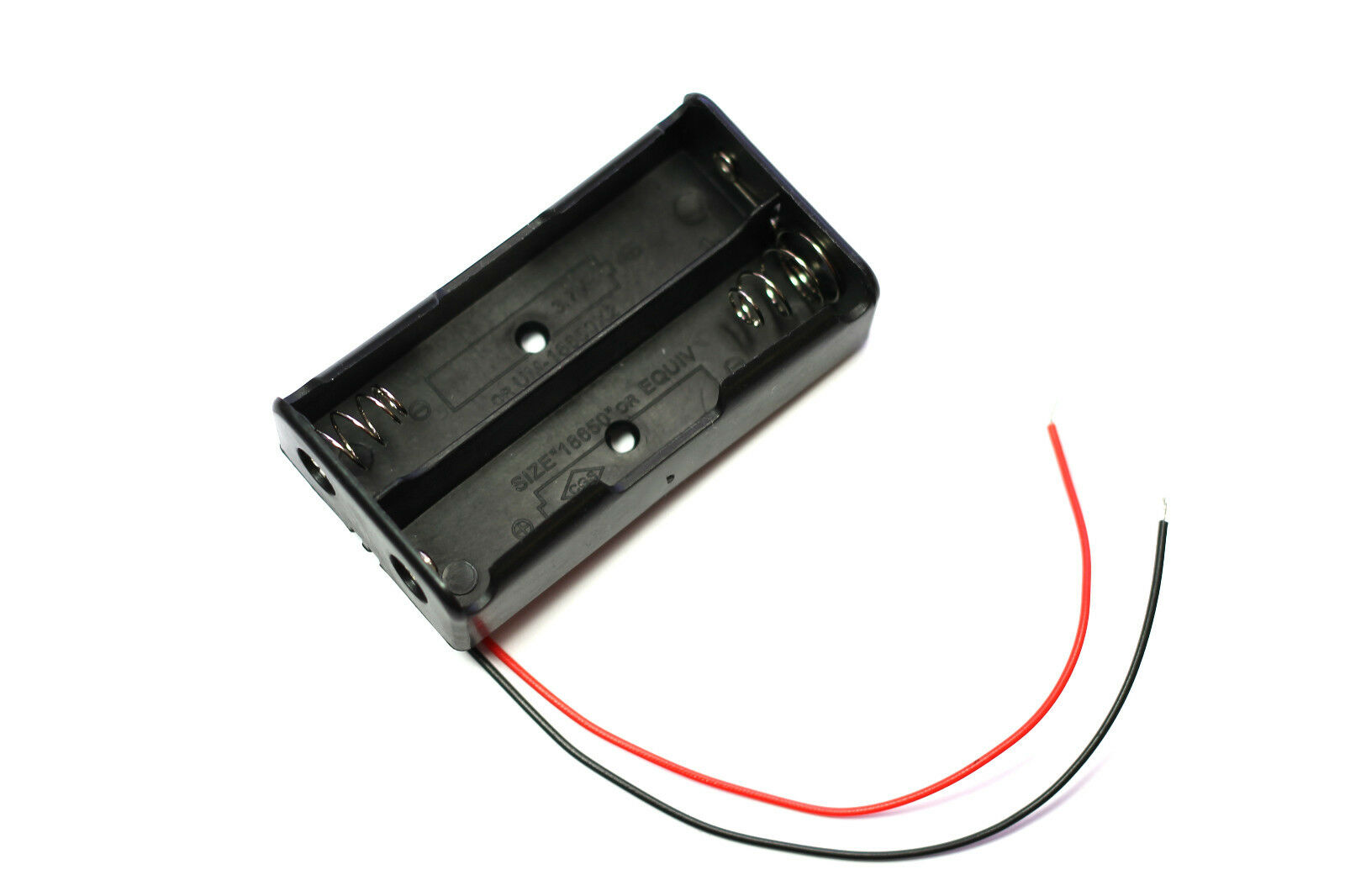 5Pcs Black PP3 DIY Battery Holder Case Box Base Mount with Wire