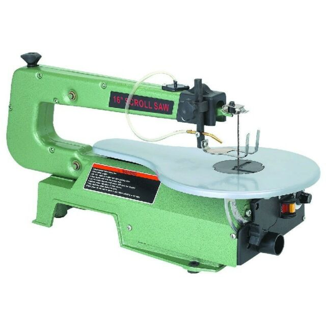 """NEW! 16"""" VARIABLE SPEED SCROLL SAW W/AIR PUMP!! ALSO INCLUDES WARRANTY!! L@@K!!"""